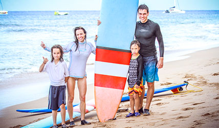 Maui Surf Lessons for the entire family